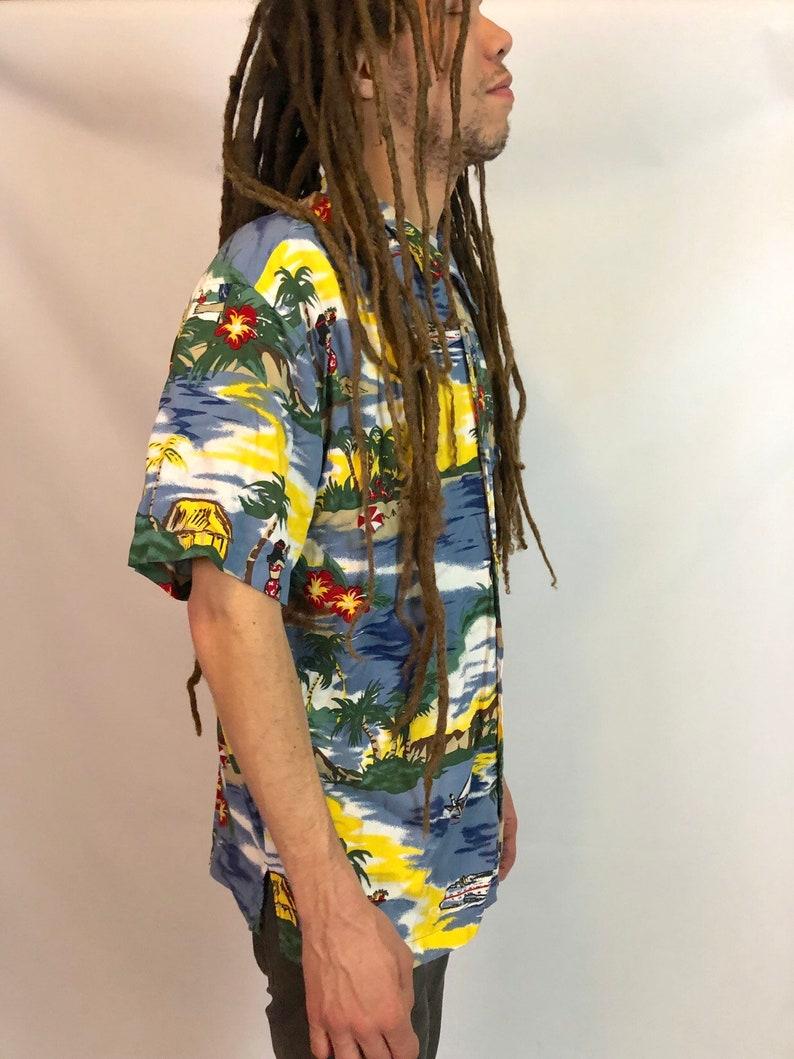 TROPICAL DAD TOURIST Shirt 1990s Vintage Mens Large