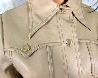 08ce57f85ff White Stag International Pleather Belted Jacket Never Worn - With Tags