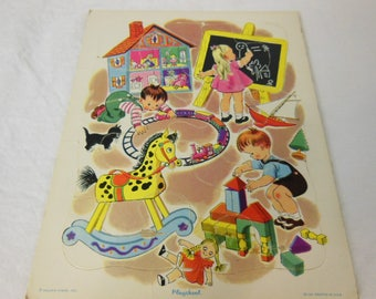 Playskool Kids Playing Tray Puzzle - 80-12A - Golden Press