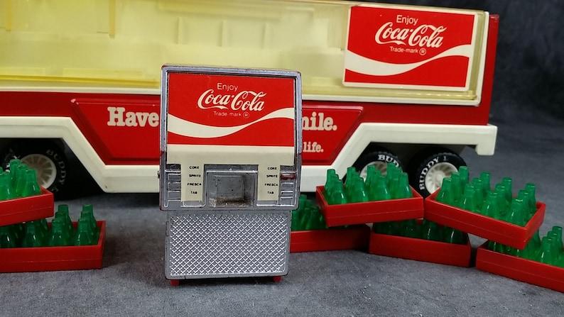 Toy Truck and Trailer Big Rig Truck with Soda Crates Buddy L Coca Cola Delivery Truck Coca Cola Collectable