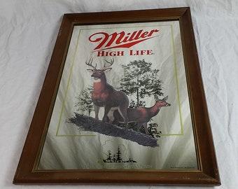 Miller High Life First Printing Wildlife Series, Second In The Series Mirror, First Printing White Tailed Deer
