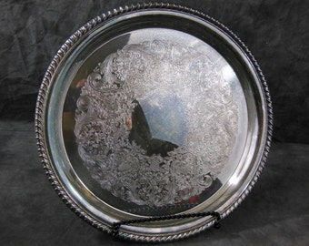 William Rogers Spring Flower Silver Plated Tray 171