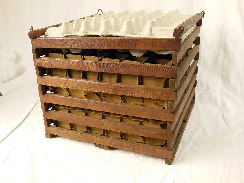Antique Wooden Egg Crate Humpty Dumpty Egg Crate Cummer Mfg Etsy