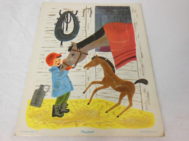 Playskool A Boy and His Horse Tray Puzzle Golden Press 80-7B