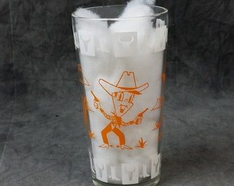 Vintage Anchor Hocking Cowboy Glass,