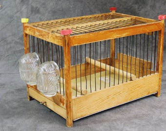 Hand Made Parakeet Cage, Vintage Breeding Cage