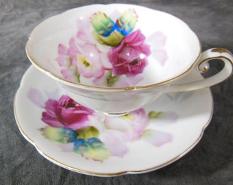 Tea Cup and Saucer - Vintage - Roses