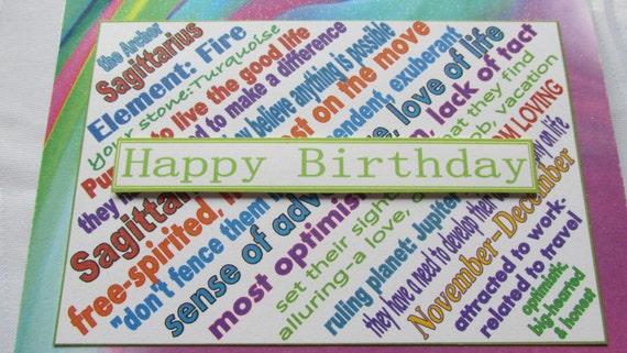 Happy Birthday Card for Sagittarius Zodiac (sign of the Archer)