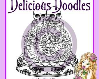 Digital Stamp - Gothic Cake