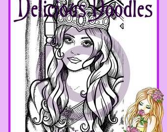 Digital Stamp - Gorgeous Guinevere