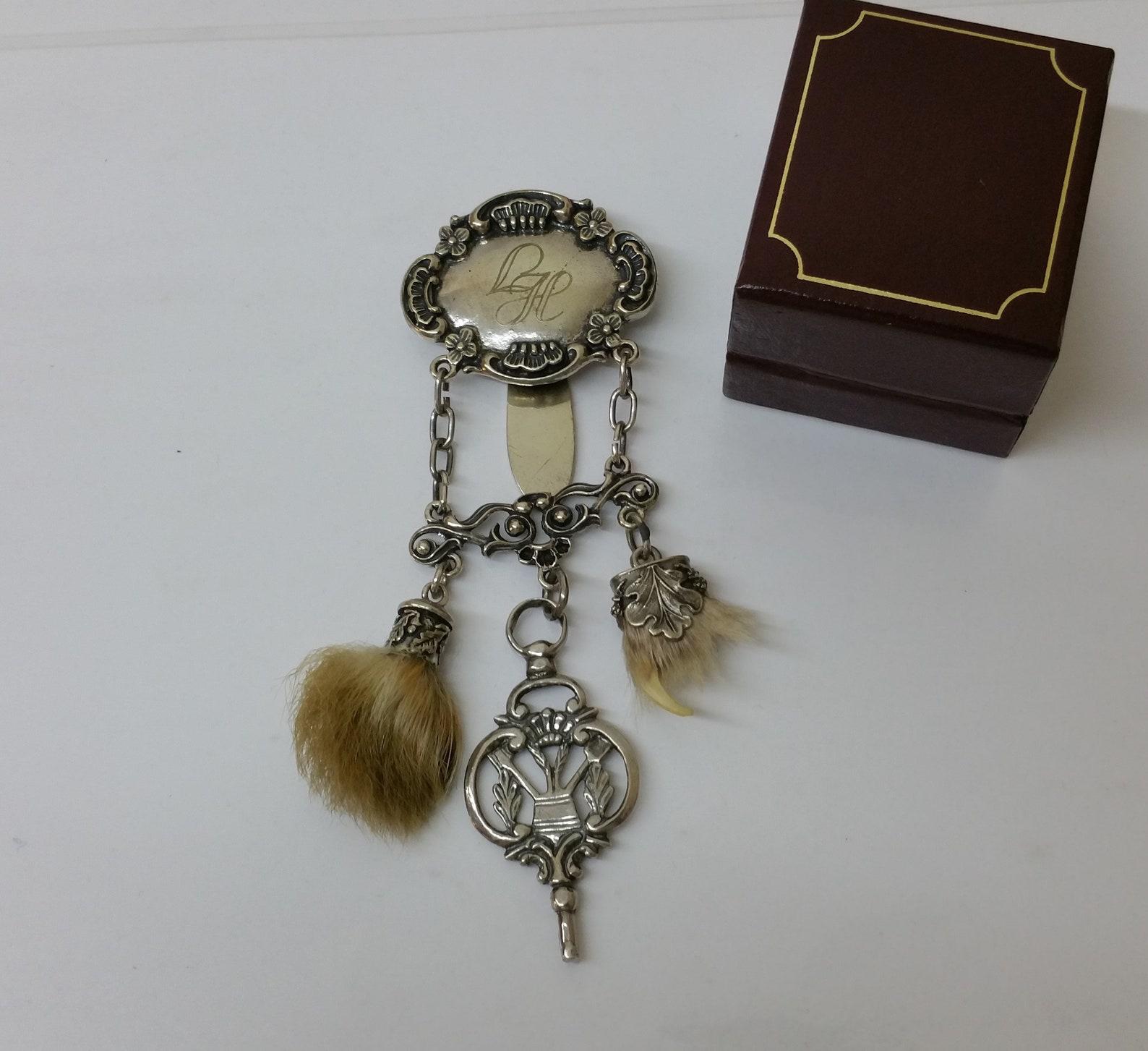 Plugs Jewelry Charivari Silver 835 initials LH pendant seldom rar SB269