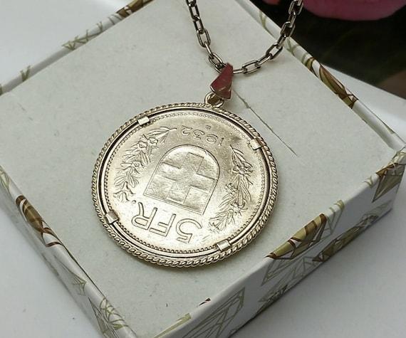 Anhänger Münze 5 Franken Helvetica 1932 Rar Sr947 Etsy