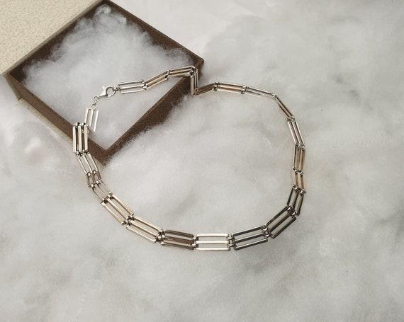 44 cm necklace chain link chain silver 925 60s ele