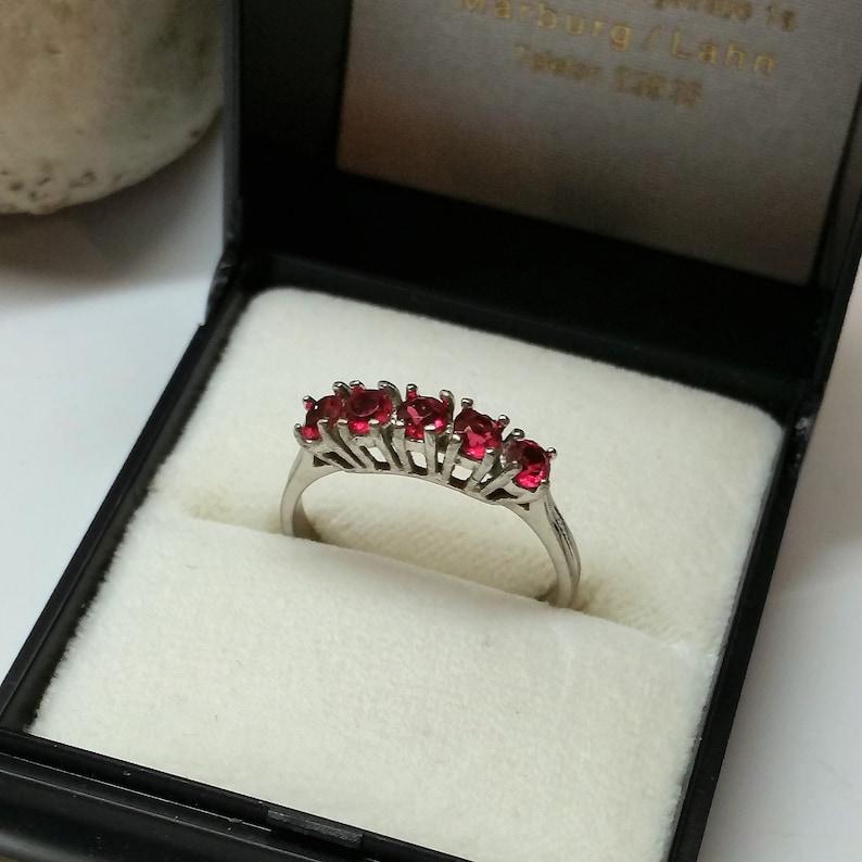 18.3 mm Vintage Preset Ring Ring Silver 835 Crystal Pink Noble Vintage SR423