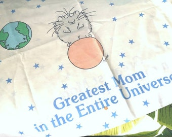 Sandra Boynton pillowcase Greatest Mom in the Entire Universe Mother's Day