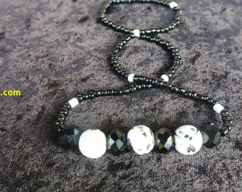 Blacky An Whiteky Necklace ( handmade)