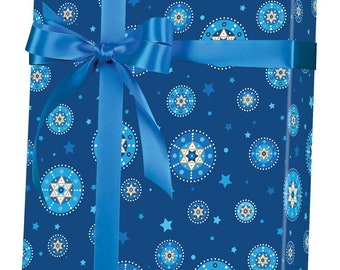 Hanukkah Christmas Gift Decor Holiday Gift Wrap Kids Hanukkah Party Set of 3 Hanukkah Wrapping Paper Sheets