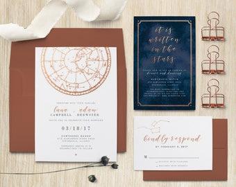 Written in the Stars Celestial Wedding Invitation Suite