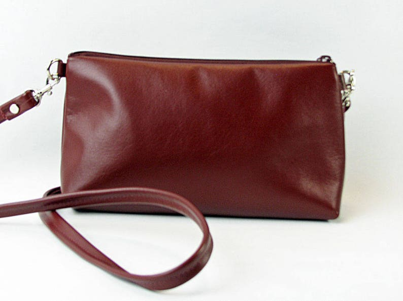 burgundy leather cross body bag leather cross body image 0