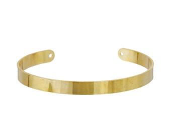 1 Golden semi open Bangle cuff bracelet