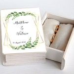 Eucalyptus wreath Greenery Wedding Wedding ring box Personalized wedding box Wedding ring holder Rustic wedding box  Ring Keepsake Box