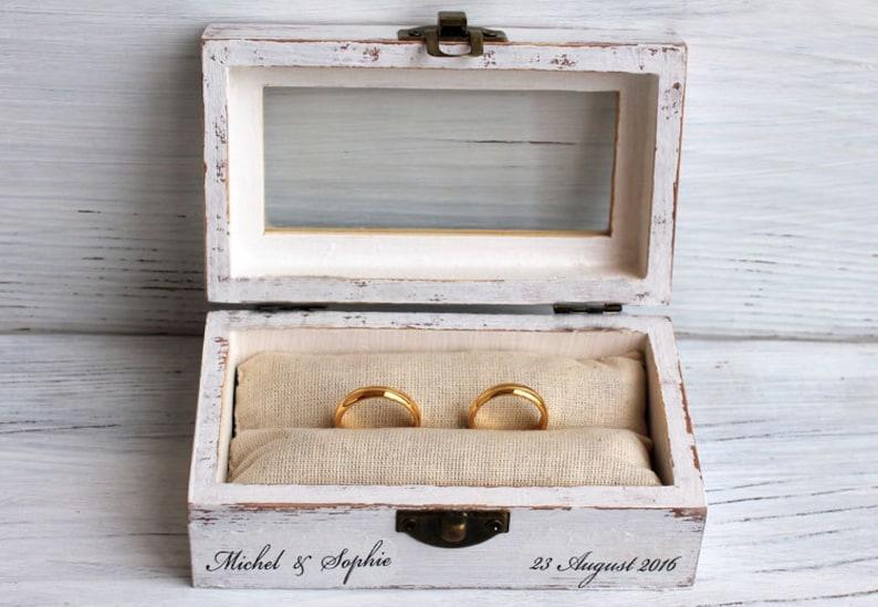 wedding ring box decoupage box ring bearer box jewelry box image 0