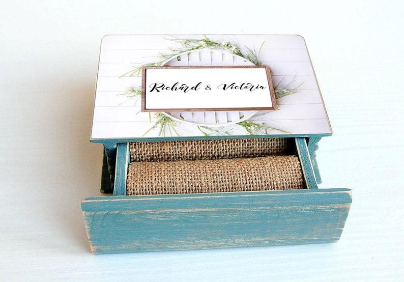 Personalized wedding box Custom ring box Rustic ring bearer box Wedding Ring Box Ring Bearer Pillow Wedding Ring Holder