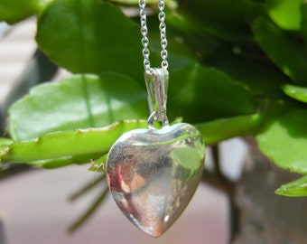 Sterling Heart Pendant Necklace Silver Chain and Pendant .925