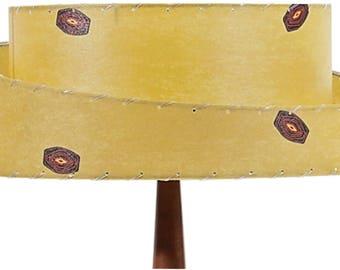 FULLY ASSEMBLED Mid Century Modern Lamp Shade / 2 Tier Angled Fiberglass / Custom Vintage Lighting Style 2T-420.0