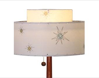 Franciscan Starburst Lamp Shade / Hand Made Atomic Lamp Shade / Custom Vintage Lighting Style 2016
