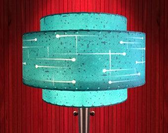 Mid Century Modern Lamp Shade / 3 Tier Fiberglass / Hand Made Atomic Lamp Shade / Custom Vintage Lighting Style 3T-72.0