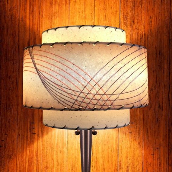 Mid Century Modern Lamp Shade 3 Tier, Handmade Lampshades Norfolk