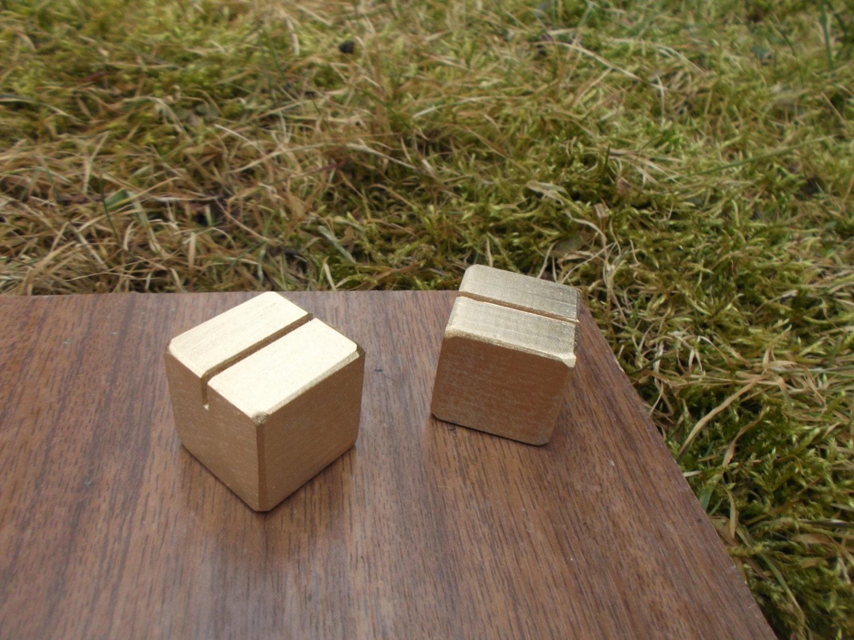 10 GOLD Ort-Card-Inhaber Holz Tischkartenhalter Tabelle | Etsy