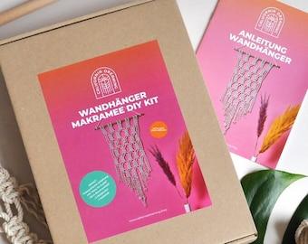 DIY Wall Hanging Kit, Macramé Kit for beginners, Learn to Make Macramé, Macrame Do-It-Yourself