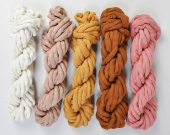 10 mm Cotton String Bundle Chunky Joy in nudes
