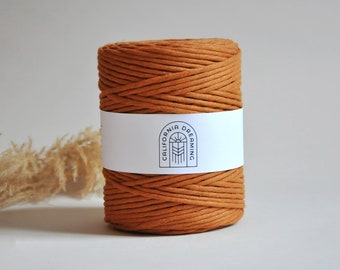 4MM Cotton Rope Single Strand | 200m Recycled Cord| Macramé Cord| Single Strand  Rope for DIY Macramé, Weaving CHOCOLATE