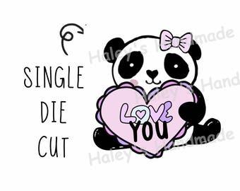 Panda Love You Die Cut