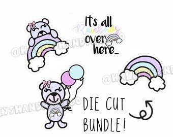 Rainbow Teddy Die Cut Bundle