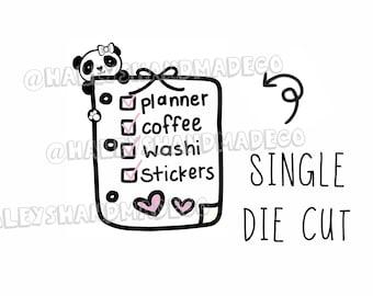 Panda Planner Checklist Die Cut