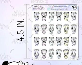 Panda Coffee Cups Stickers HHC 010
