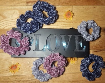 Set of 3 velvet and faux fur scrunchies trendy hair ties accessories make great stocking stuffer gifts for girls back to school