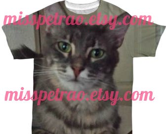EXTRA Large Image or Text on Tee, white,  unisex tee shirt t shirt, XS to 2XL, shipping included