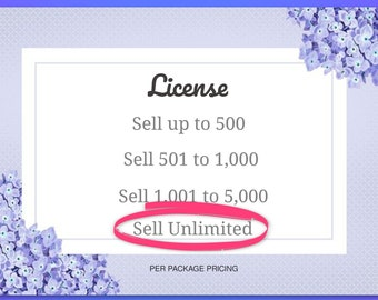 License, Sell Unlimited, PDF digital delivery, custom