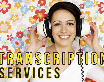 Transcription Services, delivered via Word doc and PDF, based on your video or audio, delivered quickly