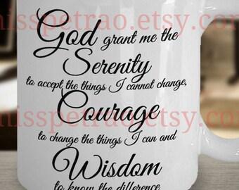 Serenity Prayer coffee mug, includes shipping