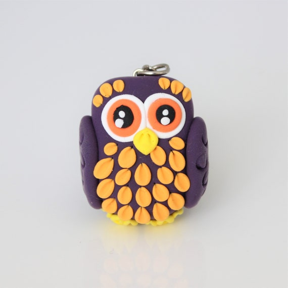 Purple owl keychain • One of a kind handmade gift idea • animals • colorful • Mother's Day gift idea
