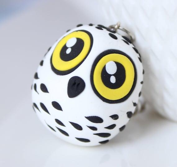 Snowy owl keychain • Unique • Birds • Harry Potter