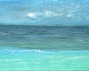 "12 x 24 CANVAS GICLEE' Print  ""Destin view""  Seascape of beach in Destin Florida"