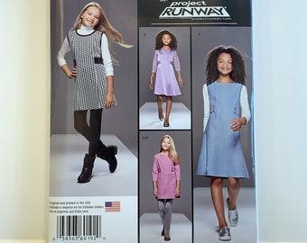 Simplicity Pattern 8026 Girl//Girl Plus PROJECT RUNWAY Dress~Jumper~Knit Leggings