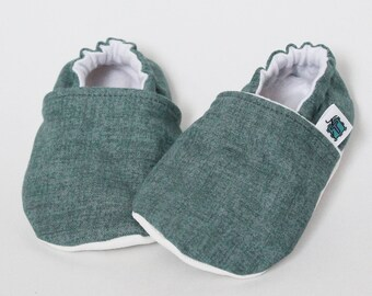 Children slippers, Denim like, Blue jeans, Linen style, Crib shoes, Flannel, Cotton, Soft soles, Moccasins, Toddler, Baby shower gift idea